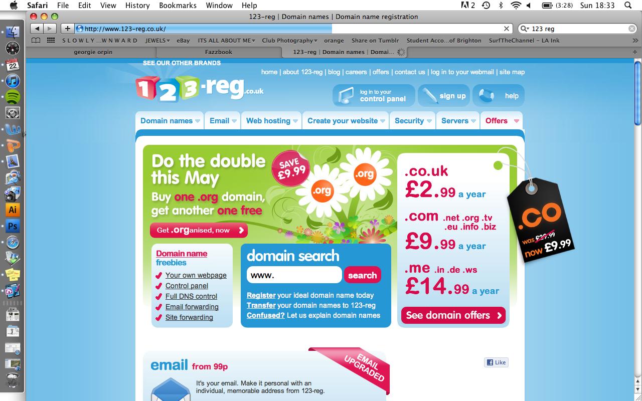 123-reg & Publishing My Website   georgie orpin